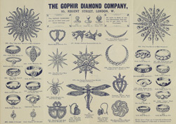 Advert for the Gophir Diamond Company, reverse side
